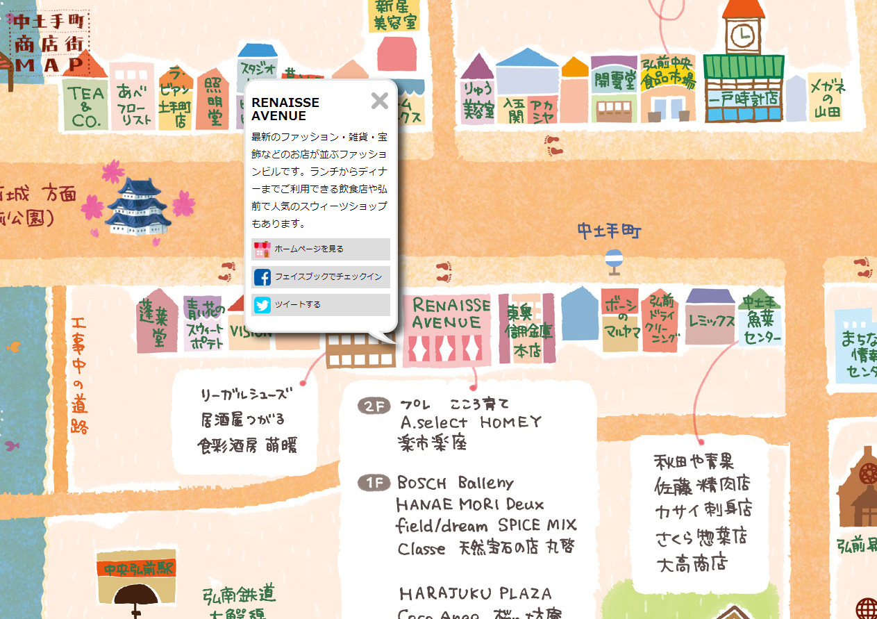 中土手町商店街MAP
