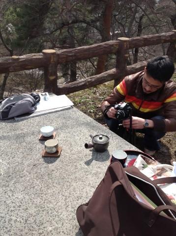 弘前城とお茶1